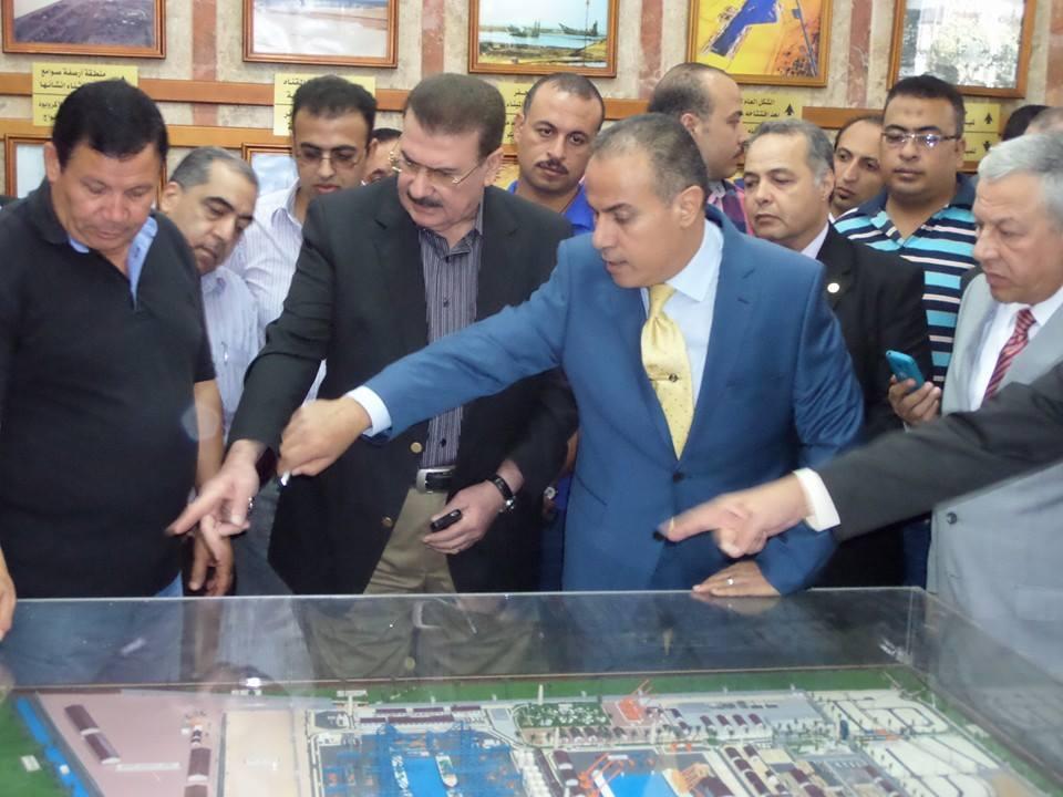 Minister of Transport in Damietta Port Album